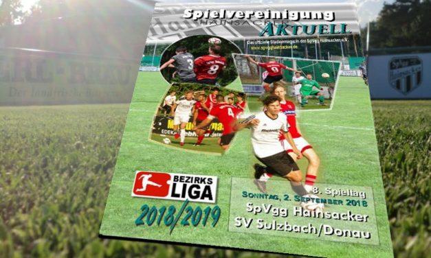 Stadionheft, 8. Spieltag: SV Sulzbach/Donau