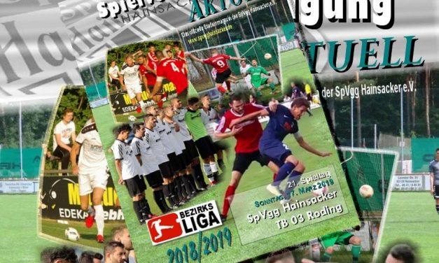 Stadionheft, 21. Spieltag: TB 03 Roding