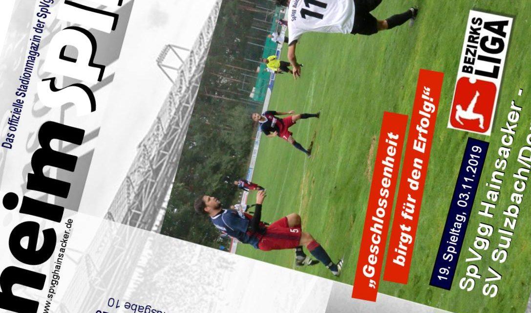 Stadionheft, 19. Spieltag: SV Sulzbach/Donau