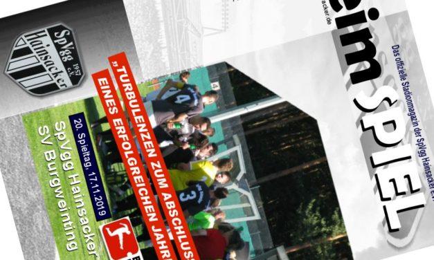Stadionheft, 20. Spieltag: SV Burgweinting