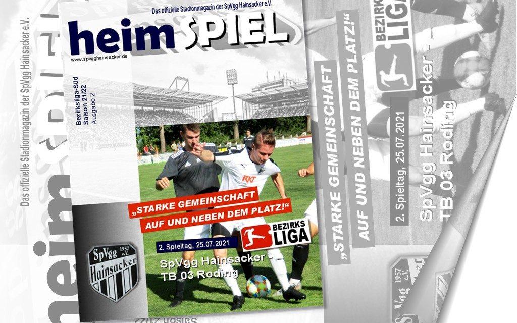 Stadionheft 21/22,  2. Spieltag: TB Roding