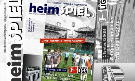 Stadionheft 21/22, 10. Spieltag: VfB Bach
