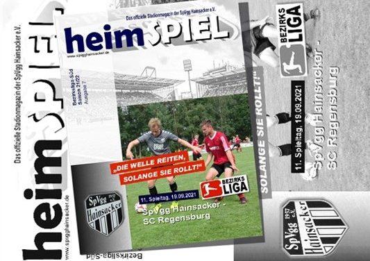 Stadionheft 21/22, 11. Spieltag: SC Regensburg