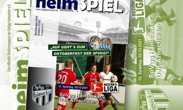 Stadionheft 21/22, 13. Spieltag: DJK Arnschwang