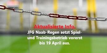 JFG setzt Spiel- und Trainingsbetrieb bis 19 April aus.