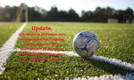 Update zum eingeschränkten Training.